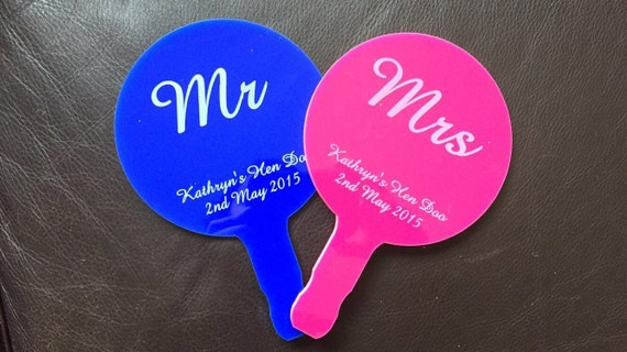 Wedding Hen Do Paddle Mr And Mrs