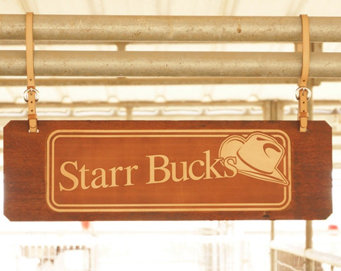 STALL SIGNS - Cowboy Design
