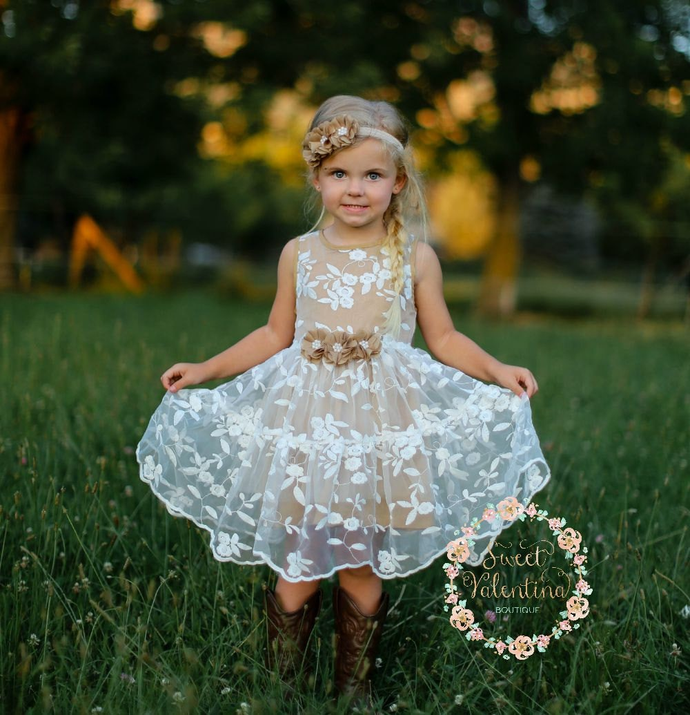 flower girl dress lace - photo #33