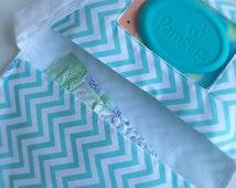 Diaper Clutch, Aqua Chevron, Diaper Bag, Chevron Diaper Bag, Gender Neutral Baby, Baby Gift, Baby Accessories,