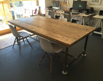 Office table boardroom table meeting table scaffold plank urban industrial
