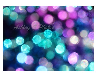 bokeh photography, abstract photography print inspired by The Little Mermaid