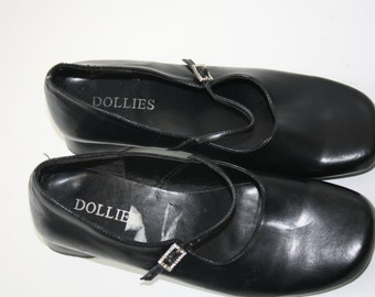 Black Mary Janes  / Mary Jane Shoes / Dolly Shoes / Low Heels /  Womens Pumps  / Oxford Shoes Women's  EUR 36  US 6