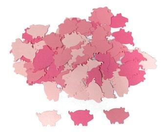 100 Assorted Pink Pig Confetti, Die Cut Pig, Farm Baby Shower, Farm Theme Party, Farm Décor, Farm birthday party