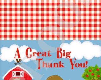 Farm Themed Thank You Card