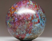 Rarest ! Large Ruby in Deep Blue Kyanite Crystal Sphere Ball ~ Feng Shui Home Decor ~ SPH122