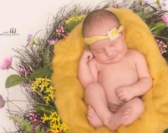Newborn photo prop SALE cloud blanket / baby photography wool fluff / natural wool stuffer / basket filler / layering blanket / newborn wrap