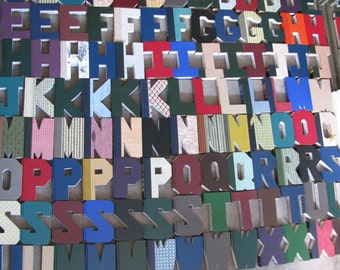 Cut letters from Readers Digest Books