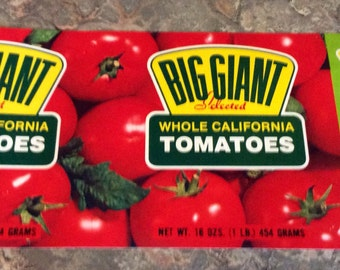 NOS Big Giant tomatoe can label