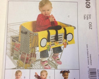 Shopping Cart Liners Craft Sewing Pattern Taxi Cute Uncut McCalls M5409