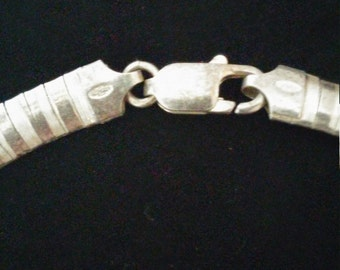 Sterling Silver Necklace Italy Vintage Jewlery
