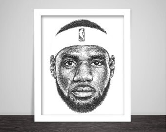 Scribbled LeBron James
