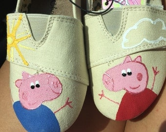 Peppa Pig Themed Womens/Kids/Toddler Shoes-Customizable