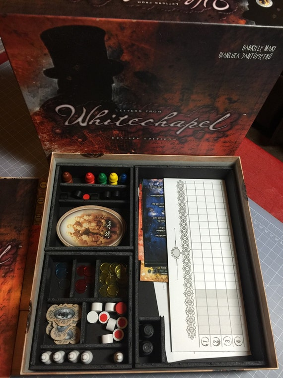 Items similar to Letters from Whitechapel board game insert on Etsy