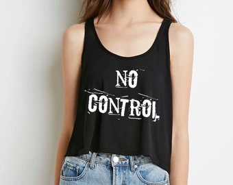 """one direction """"no control"""" Boxy Cropped Tank Top"""