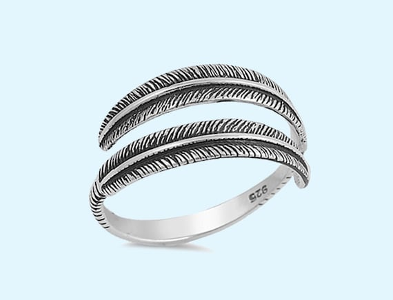 sterling silver feather ring silver feather ring by
