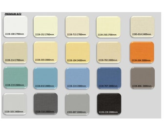 Blackout series window roller blinds available in 19 colours custom made