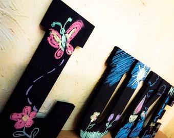Chalkboard hanging letters