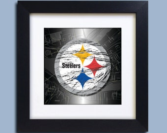 Pittsburgh Steelers Football Map Art Print