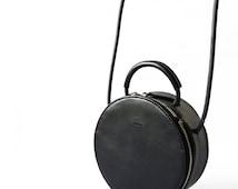 Round Black Cross Body bag whole sale wholesale