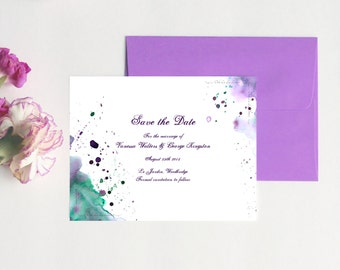 Watercolor Wedding Save the Date Cards Watercolor Save the Date Wedding Modern Save the Date Watercolor Stationery Watercolour Cards DEPOSIT