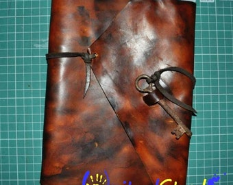 "A5 Vintage Leather Binder – Ring Binder Retro looking: ""Key To"""