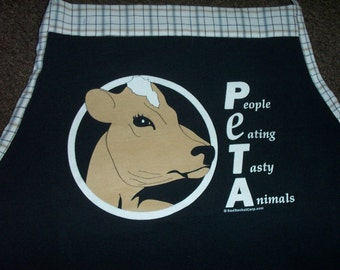 Tasty Animals  Apron or Adult Bib