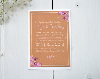 Bunches of Love Wedding Invitations