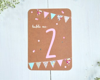 Country Bunting Tabe Number