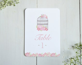 Vintage Birdcage Table Number
