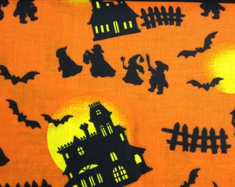 Haunted Houses fabric- sold by the yard