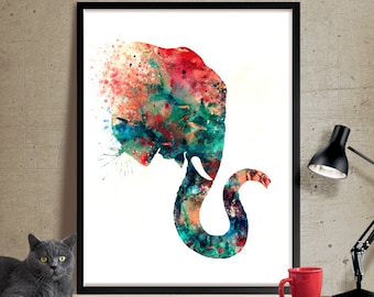 Elephant nursery decor art, Elephant Art Print, Watercolor Art, Elephant Print, Elephant Watercolor Wall Decor Home Nursery decorations (74)