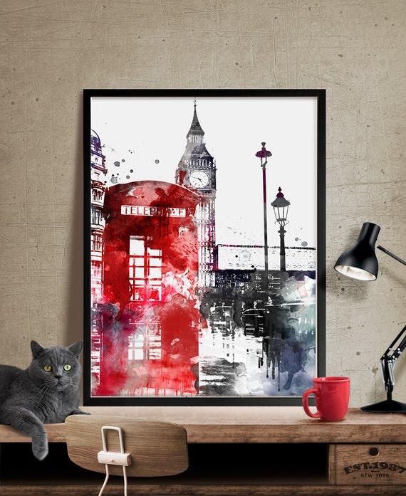 Decoration Londres Ikea : Londres big ben art de london print decor