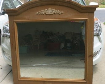 "Large Wood Framed Wall Mirror - size W 48"" x H 47""  & 43"" x 43"""