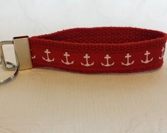 Red anchor key fob