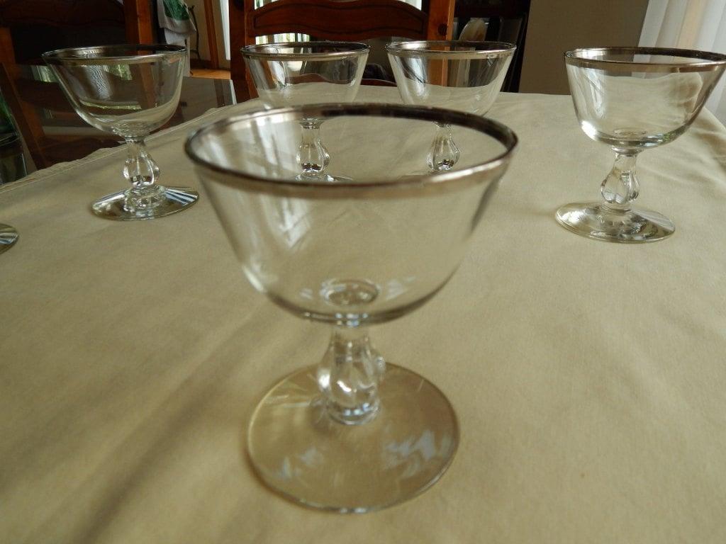 Vintage set of 6 short stemmed wine sherbert dessert glasses - Short stemmed wine glass ...