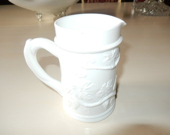MILK GLASS BEER Stein with Pouring Spout
