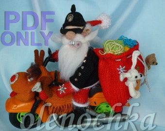 Santa on a bilke / Heavy metal new year!!!, PDF pattern