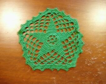 5 in Crochet Green Doily
