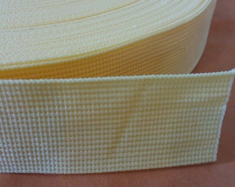 5 Yards, 1.5 inch (3.8 cm.), Polypropylene Webbing, Cream, Key Fobs, Bag Straps, Purses Straps, Belts, Tote Bag Handle