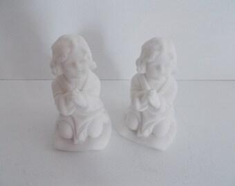 Set of 2 Praying Girl Figurines