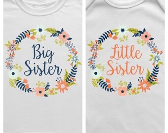 Big Sister Little Sister Outfits, Big Sister Shirt, Big Sister Announcement, Big Sister Gift, New Big Sister, Little Sister Onesie