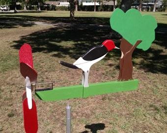Woodpecker whirligig