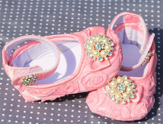 baby shoes light pink baby pink shoes pink by babyluxx