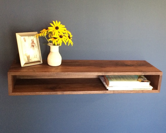 Floating Console Table Side Table Bar Cart In Solid