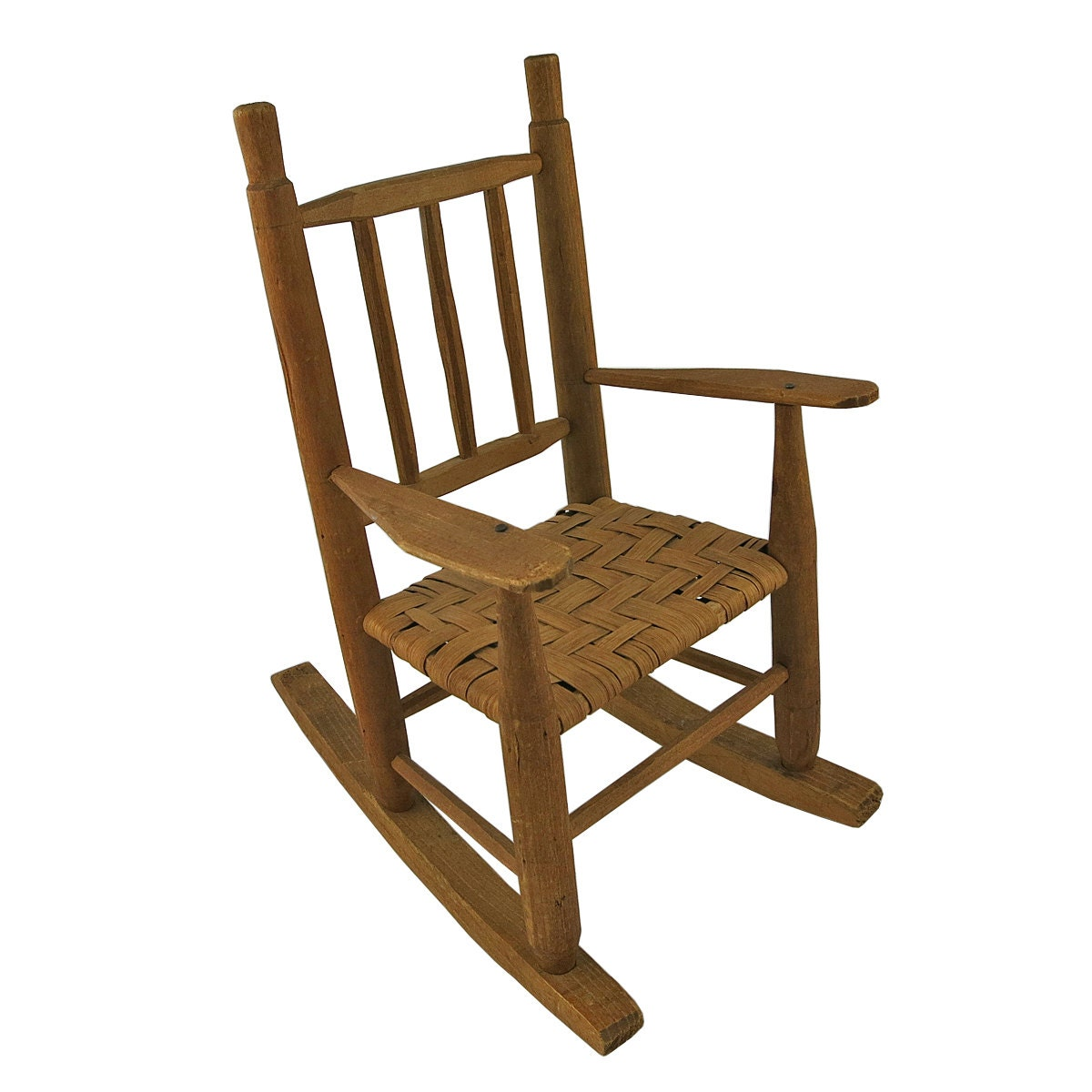 vintage wooden dolls rocking chair