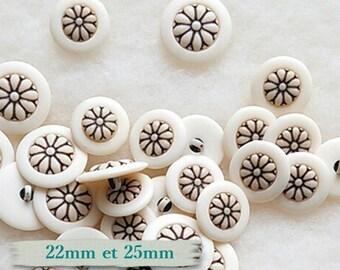 BF37, 3 buttons, 22mm, 25mm, Flower Truss,
