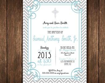 Baptism Invitation - Boy or Girl - Digital Copy