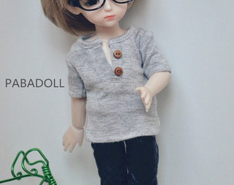 Button T shirt for 1/6 Yosd 1/4 Msd 1/3 SD16 SD17 Uncle IP EID Bjd Doll Clothes Customized