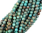 Blue Calsilica Jasper Beads, 6mm Round Beads, 15.5 Inch, Full strand, Approx 65 beads, Hole 1 mm (496054001)